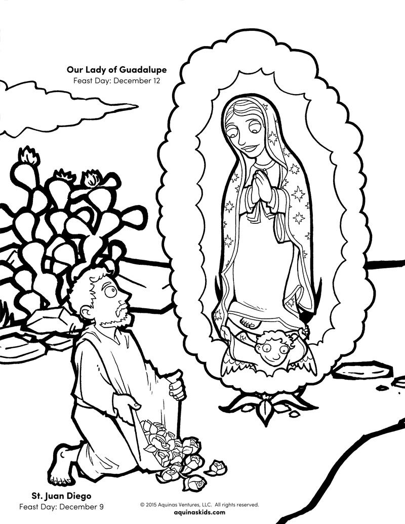 Attractive Saint Juan Diego Coloring Pages Vignette - Professional ...
